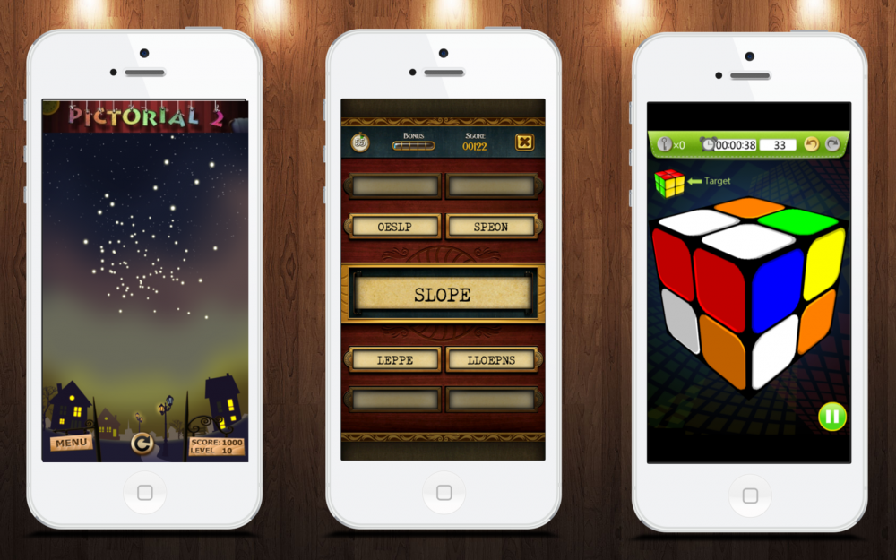 Умные игры для iOS: Clkwrk Brain, Rubiks Cube, Pictorial