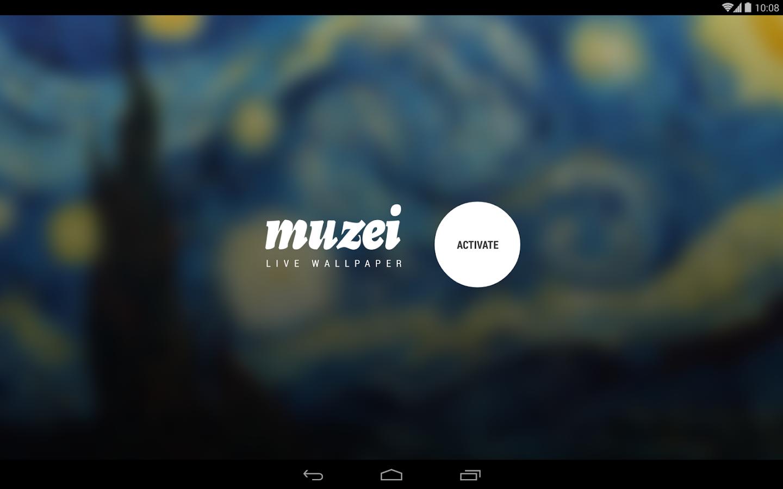 Muzei Live Wallpaper — великие произведения живописи на вашем рабочем столе