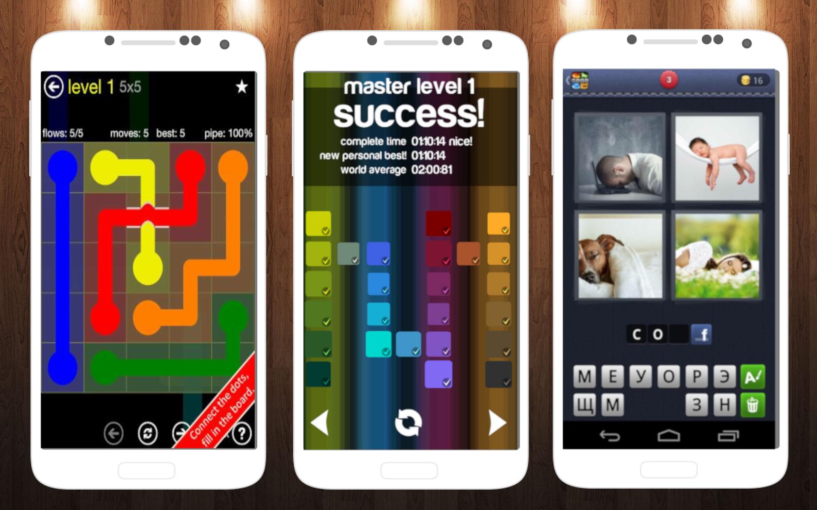 Умные игры для Android: Flow Free, Blendoku, 4 слова