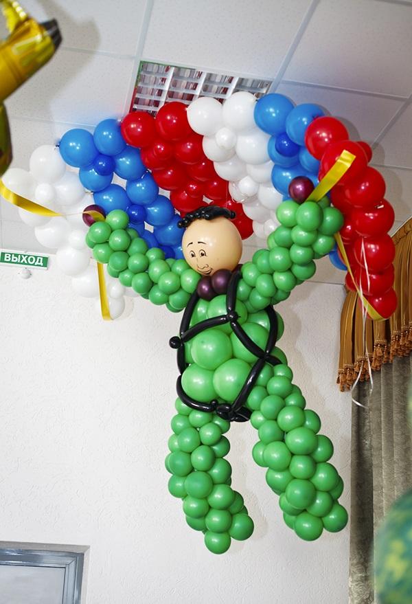 Поздравление шарами, праздничные шары, буквы из шаров 94
