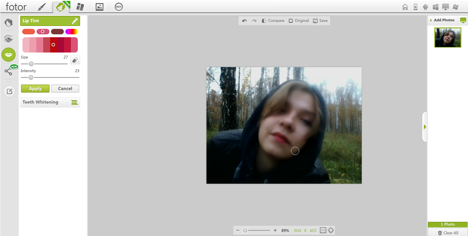 редактор фотографий онлайн с эффектами: