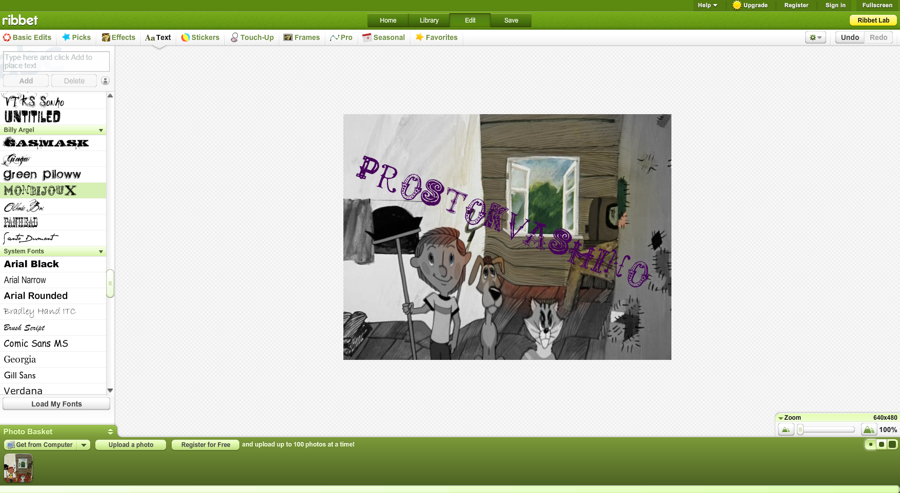 онлайн редактор фото со стикерами