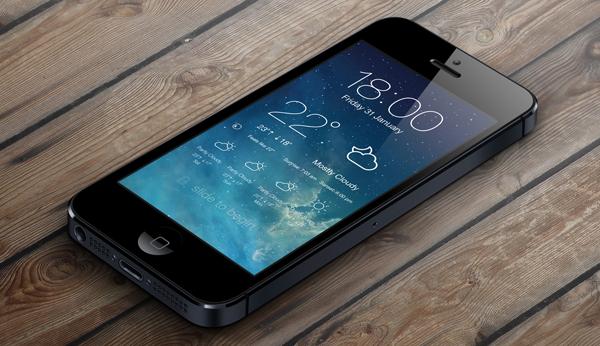 iOS 7 LockScreen Weather: элегантный погодный виджет для iPhone [Jailbreak]