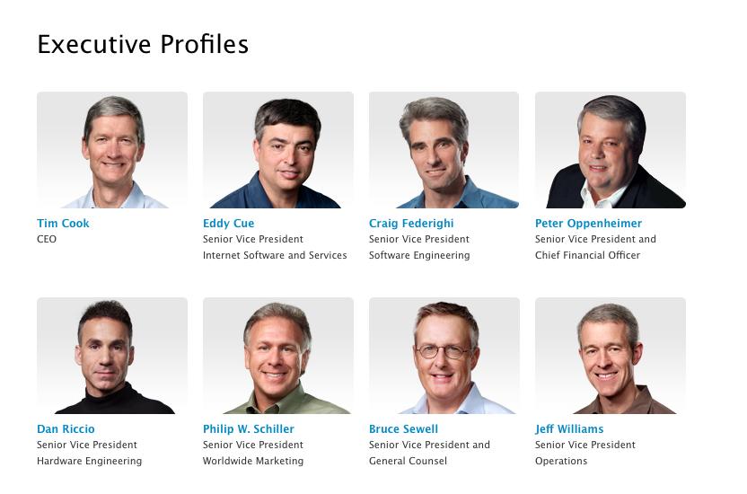 Джони Айва убрали из списка руководителей Apple на официальном сайте (уже вернули)