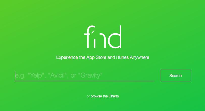 Fnd: простой и удобный сервис для мгновенного поиска контента в iTunes- и App Store