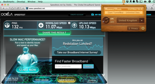 UA → UK → UA = download/upload = 10Mbps