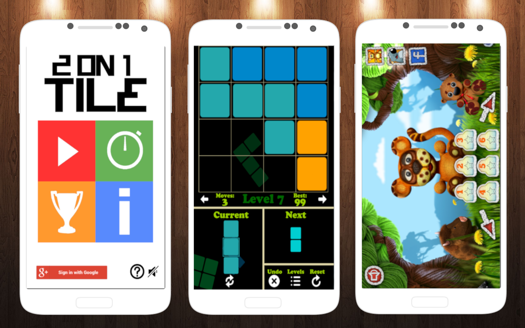 Умные игры для Android: Blocks, 2 On 1 Tile и The Woolies