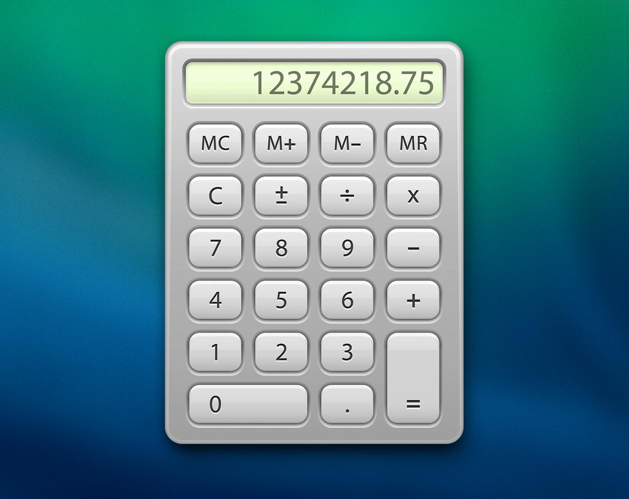Как конвертировать валюты и величины в стандартном калькуляторе OS X