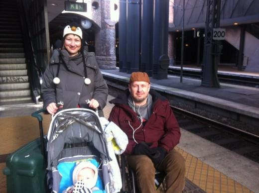 Игорь с женой и сыном