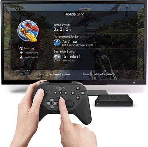 Amazon показала телеприставку Fire TV с поддержкой игр и контролеров