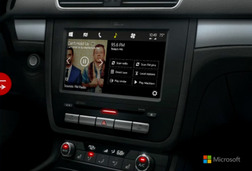 Microsoft представила Windows in the car — прямого конкурента Apple CarPlay