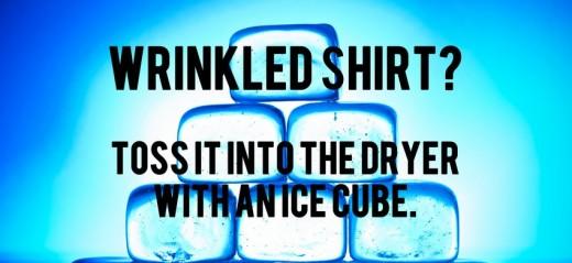Помялась рубашка? Брось ее в сушилку с кубиком льда.