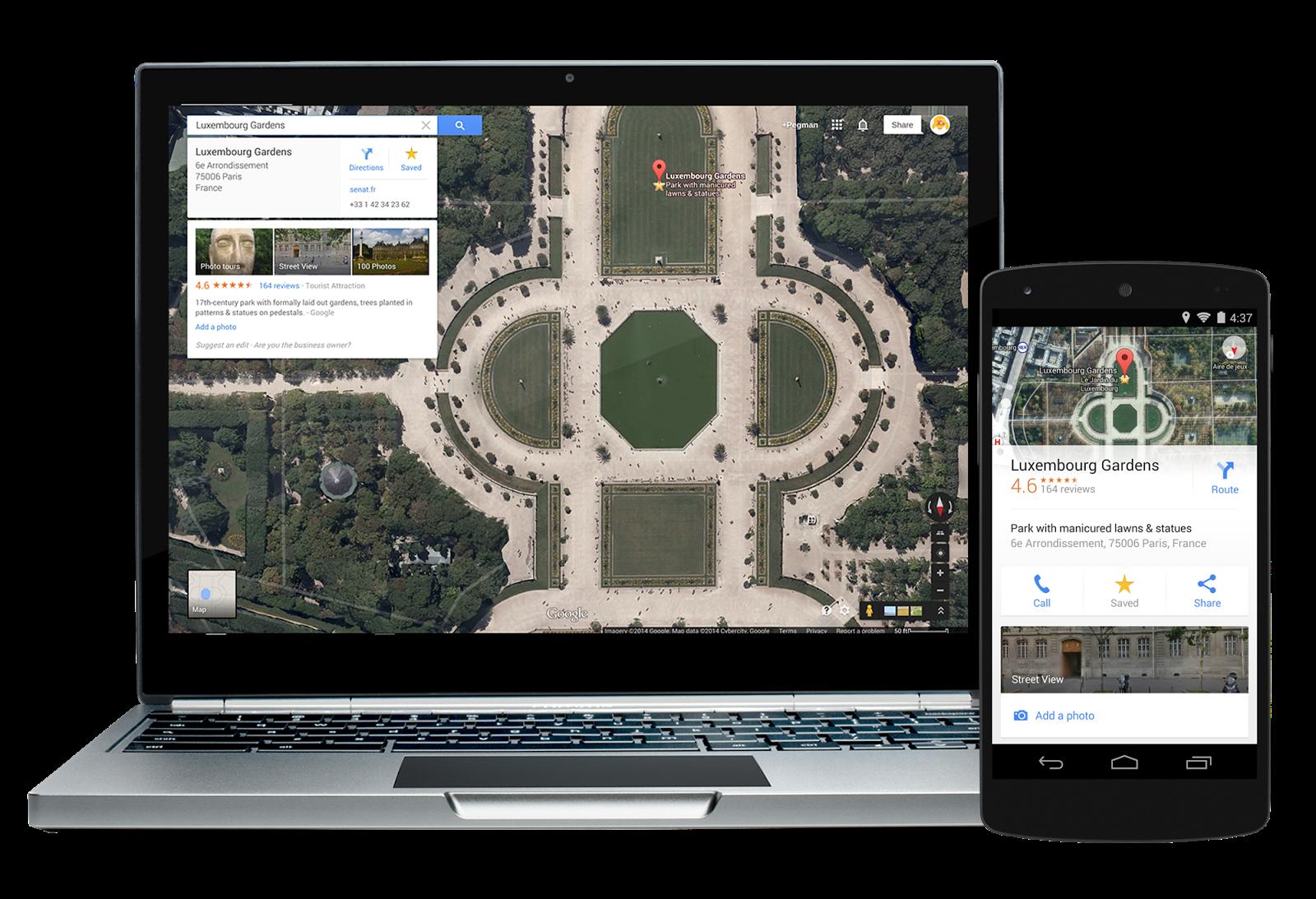 Новые мобильные карты Google: офлайновые карты, синхронизация, фильтры мест, интеграция с Uber