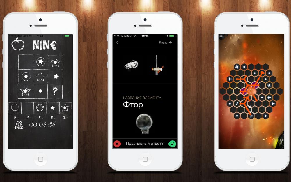Умные игры для iOS: IQ Test, Карточки, Hungry Squid