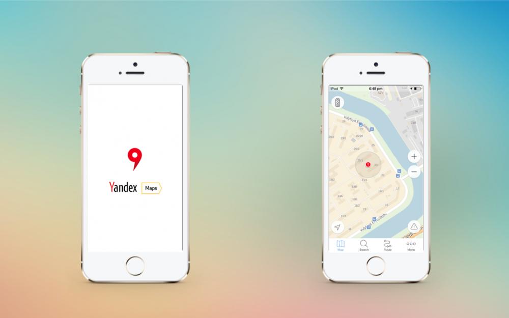 Через год после запуска iOS 7 Яндекс запустил новые мобильные карты. Но красивые!