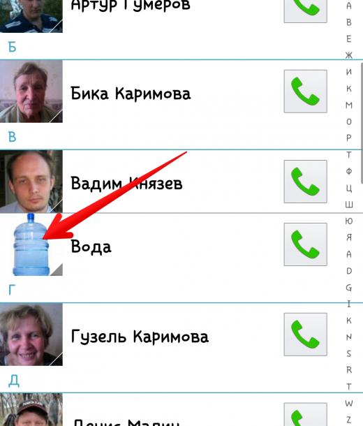 Да, даже службу доставки воды я снабдил фоткой))