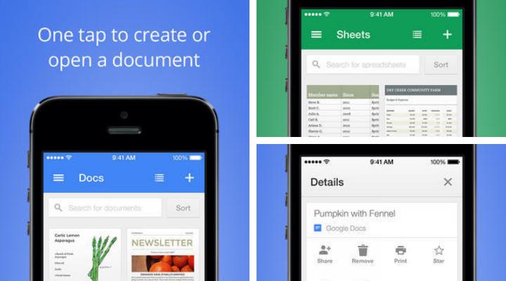 Google выпустил новые офисные мобильные приложения с функцией оффлайновой работы
