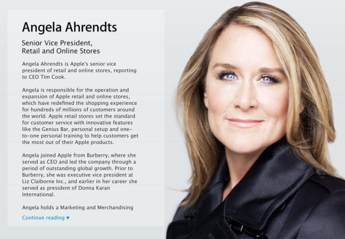 Анжела Арендтс официально вступила в должность вице-президента Apple по ритейлу
