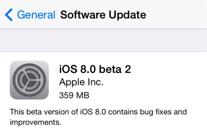 Вышла iOS 8 beta 2 и OS X Yosemite Developer Preview 2 (обновляется)