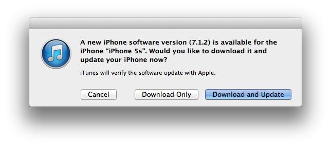 Вышла iOS 7.1.2 с исправлениями для Mail