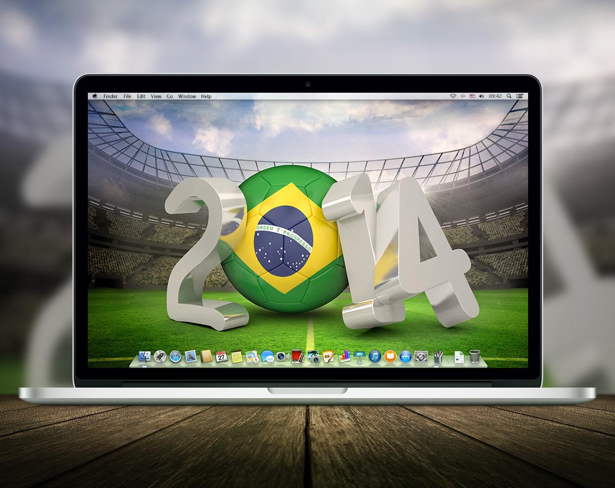 Обои для OS X: Оле-оле-оле… в Бразилию, вперед!