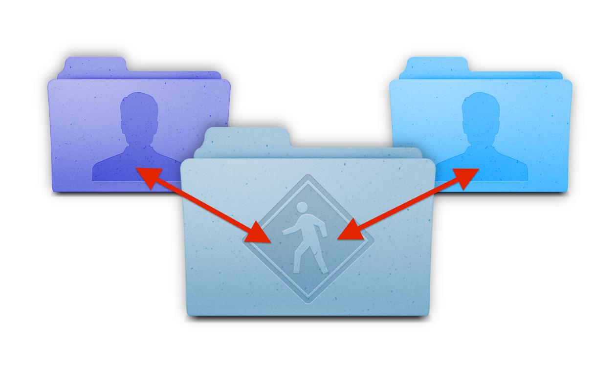 Как легко перенести файлы между разными пользователями в OS X