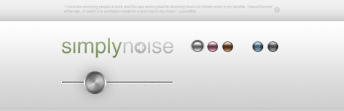 SimplyNoise -- The Best Free White Noise Generator on the Internet.
