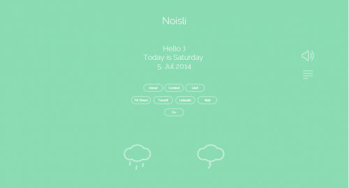 Noisli - background noise and color generator for working and relaxing