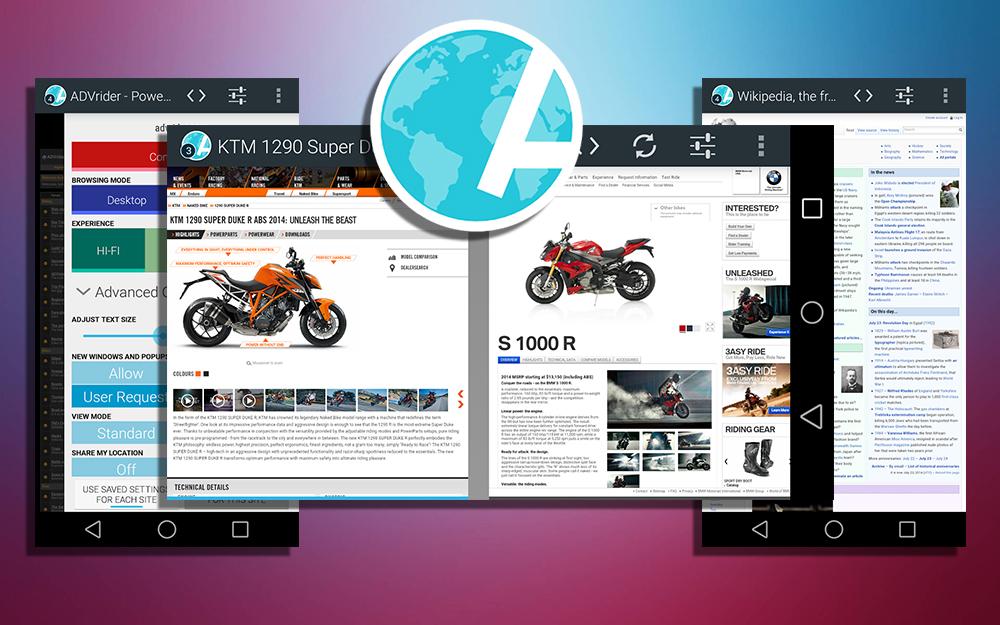 Atlas Web Browser (Android) — браузер с резчиком рекламы и персональными настройками страниц