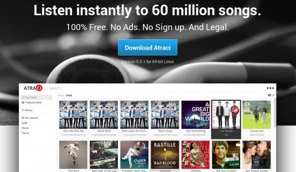 Atraci — бесплатный доступ к 60 миллионам песен