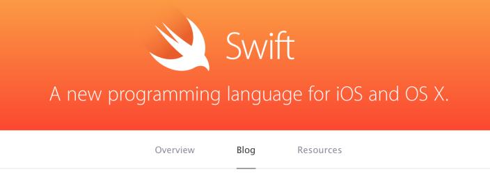Apple открыла блог, посвященный языку программирования Swift
