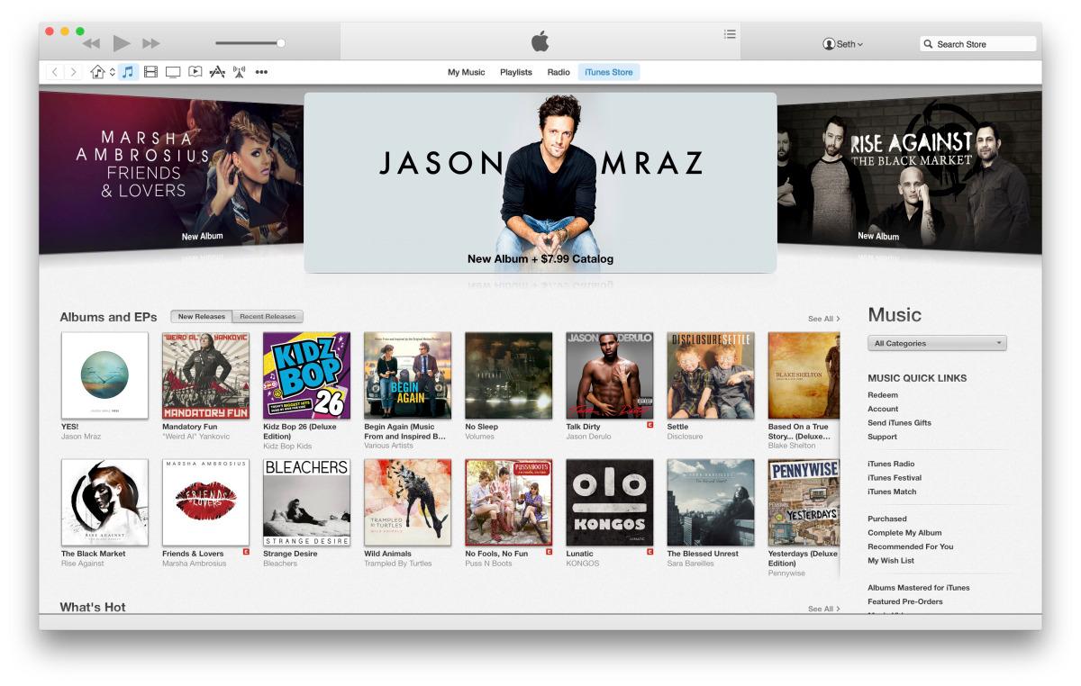 Что нового в OS X Yosemite DP 4 и iTunes 12