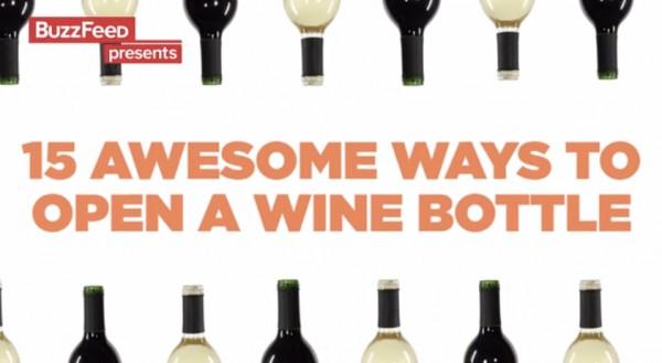 ВИДЕО: 15 необычных способов открыть бутылку вина