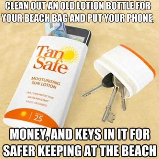 Как сделать пляжный тайник для ключей