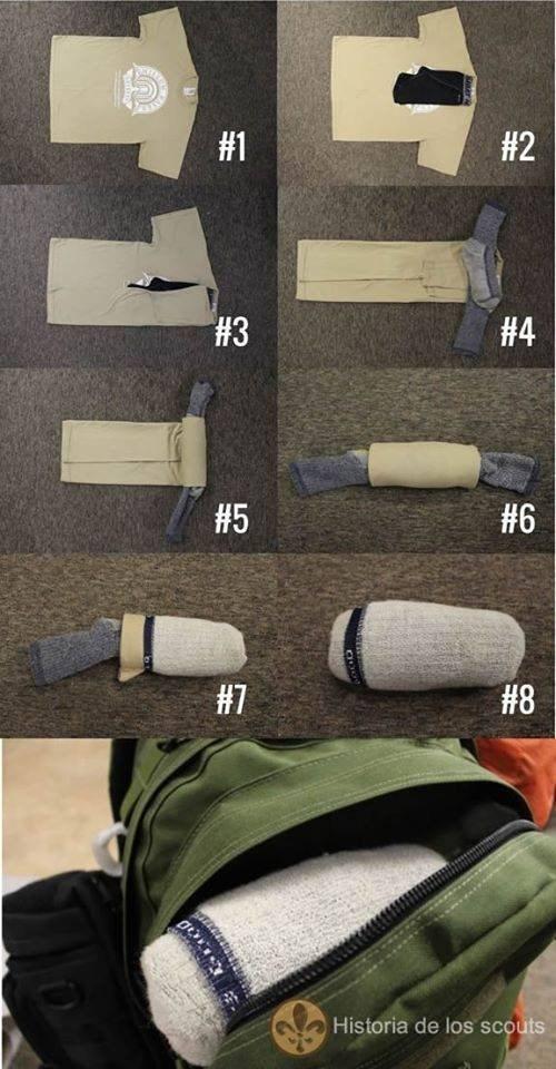 Как сложить трусы и носки