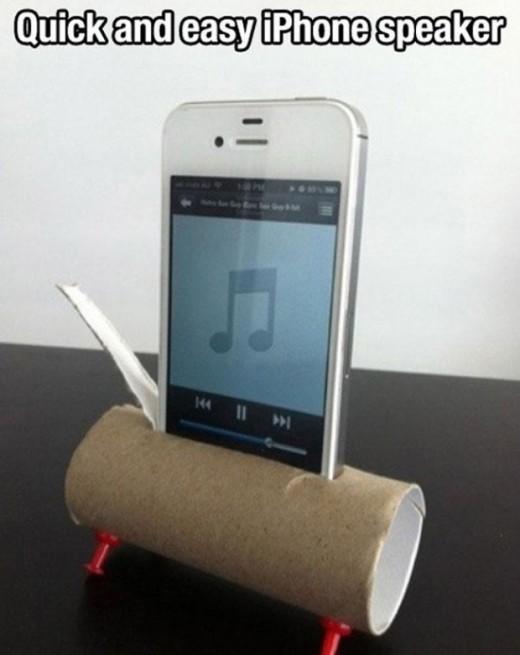 Как сделать усилитель для смартфона из туалетной бумаги