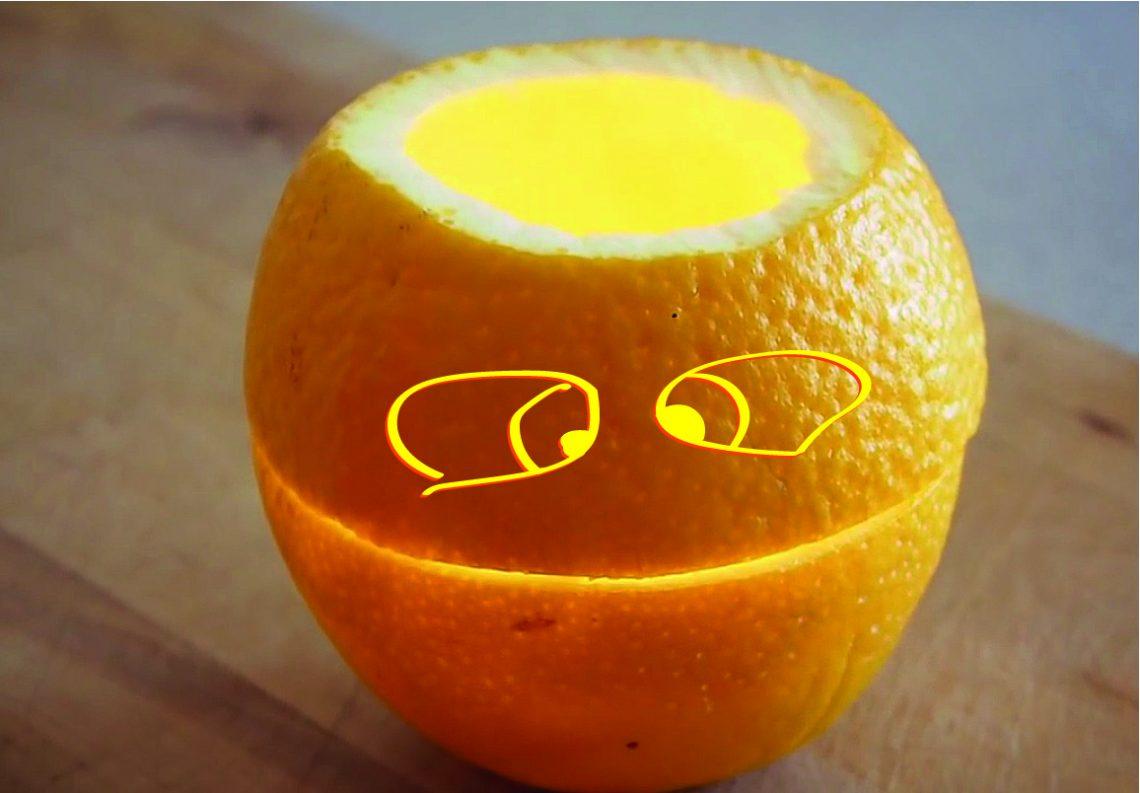 ВИДЕО: Как превратить апельсин в свечу