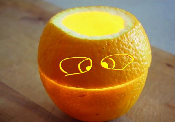 Простая свеча из апельсина