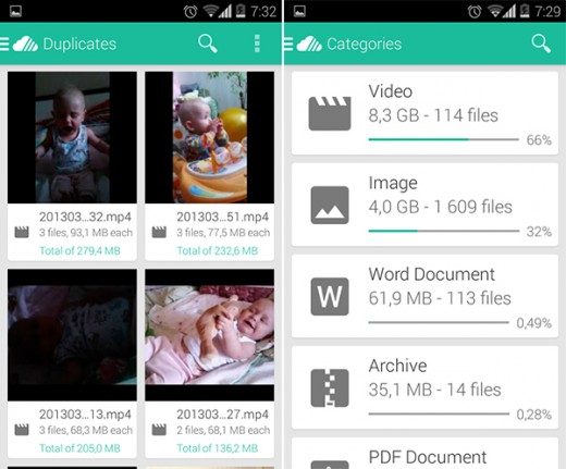 Unclouded-android-app_Duplicates+Categories