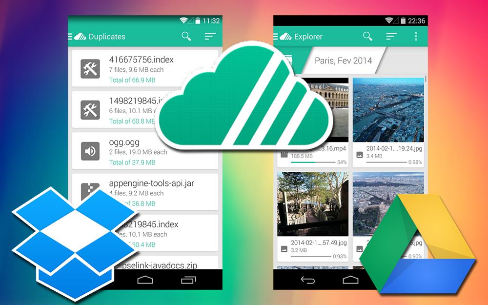 Unclouded (Android) точно знает, чем забиты ваши Google Drive и Dropbox