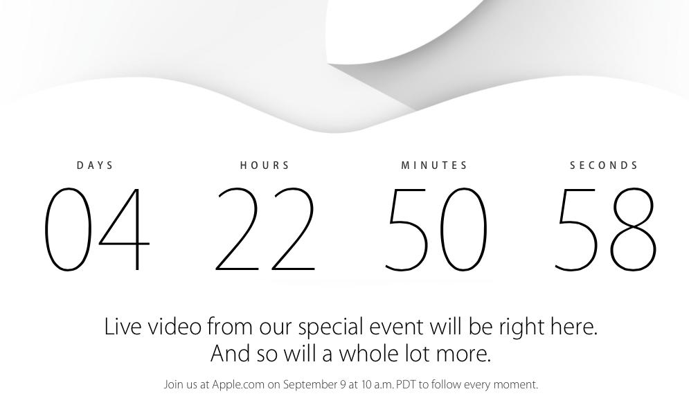 Apple проведет видеотрансляцию презентации 9 сентября