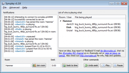 VLC Syncplay Interface Module for VLC