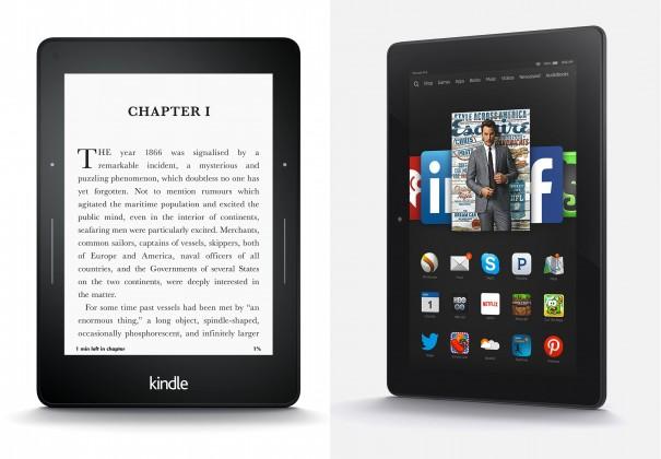 3 новых планшета и 2 электронные книги от компании Amazon