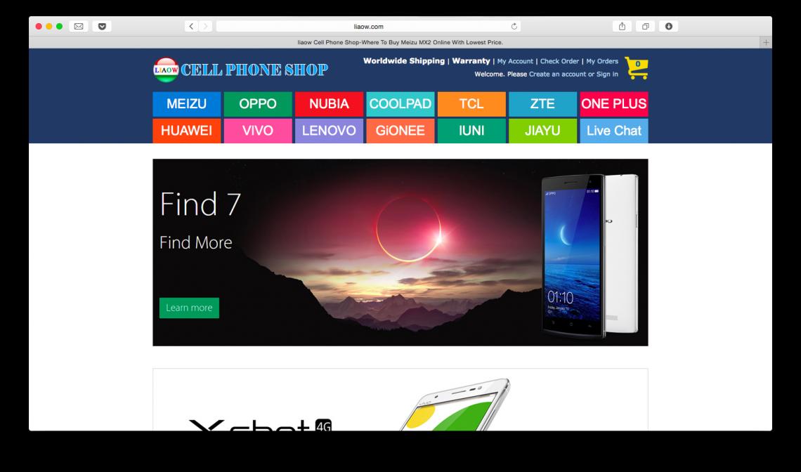 ОБЗОР: Интернет-магазин liaow.com — простой способ купить китайский смартфон