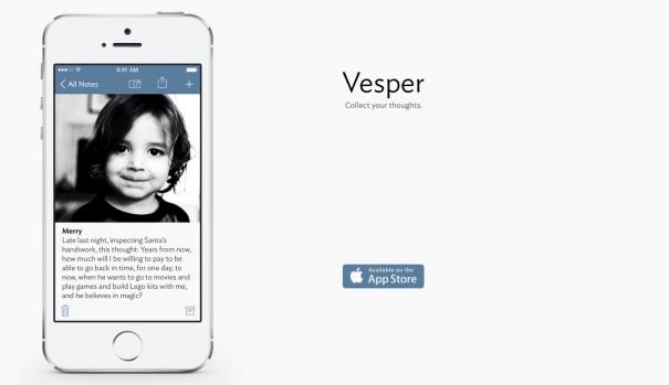 Vesper — минималистичный заметочник для iPhone