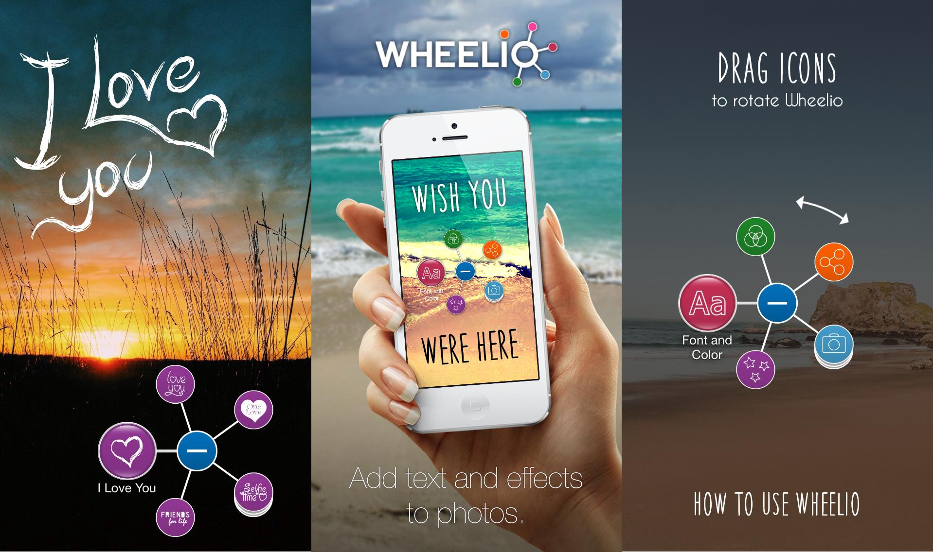 Wheelio для iPhone — удобный фоторедактор с возможностью добавления текста