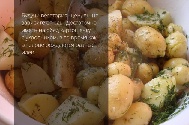 вегетарианство картофель зелень