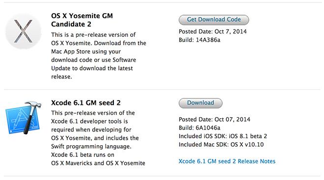Apple выпустила OS X Yosemite GMC 2.0 и Public beta 5