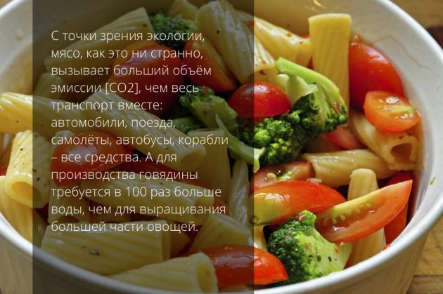 вегетарианство макароны с овощами