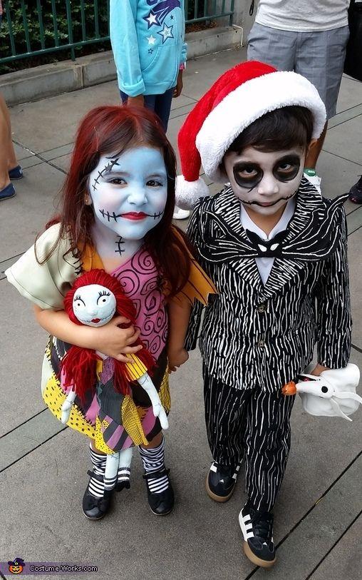 Костюмы на Хэллоуин. Джек и Салли